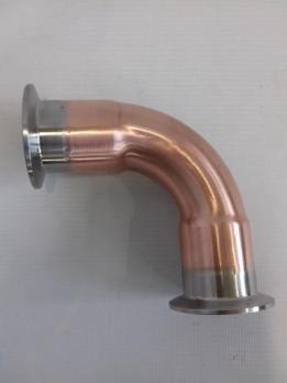 Отвод медный 90 градусов Clamp-2,0