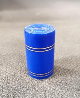 Колпачок полимерный Гуала 59мм, золотые кольца, синий