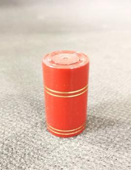 Колпачок полимерный Гуала 59мм, золотые кольца, красный