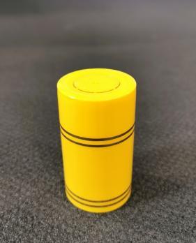Колпачок полимерный Гуала 59мм, золотые кольца, желтый